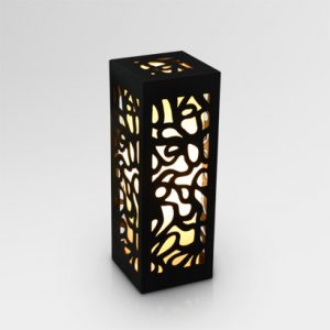 Borne Ethnic Wooden Table Lamp Black