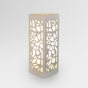 Borne Ethnic Wooden Table Lamp White