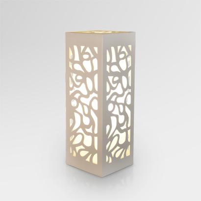 Borne Ethnic Wooden Table Lamp White