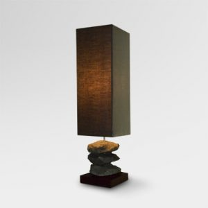 Briquette Table Lamp | Briquette Stone Table Lamp | briquette natural table lamp