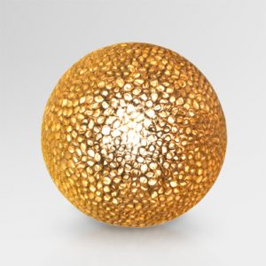 Curly Ball Paper Resin Table Lamp Brown