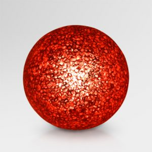 Curly Ball Paper Resin Table Lamp Red