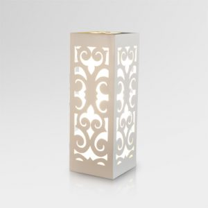 Dayak Table Lamp - White | Dayak Wooden Table Lamp White | Dayak natural table lamp White