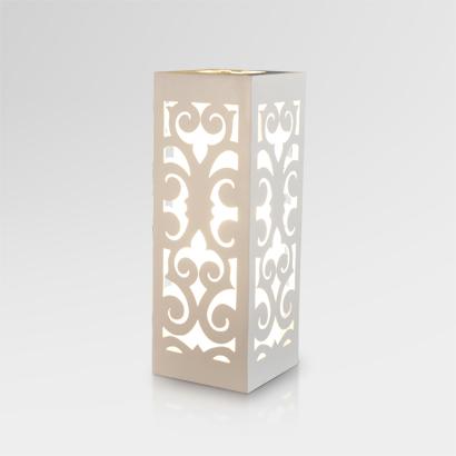 Dayak Table Lamp - White | Dayak Wooden Table Lamp White | Dayak natural table lamp White