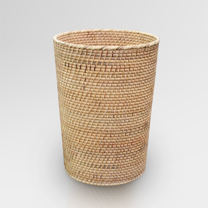 Round Rattan Basket Small | Round Natural Rattan Basket Small