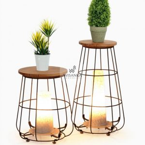 Gentong Floor Lamp | Wooden Lamp | Warm White Home Decor
