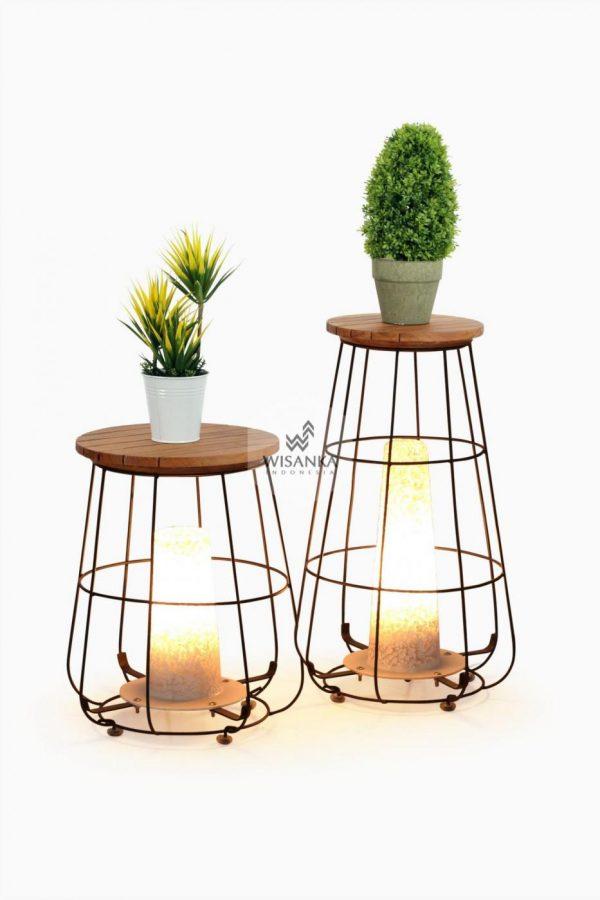 Gentong Floor Lamp | Wooden Lamp | Warm White Home Decor