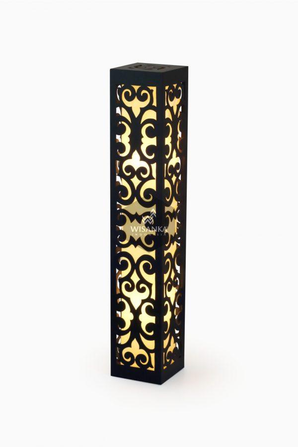 Dayak Floor Lamp Black Light On | Dayak Orange Light | Dayak Floor Lamp Orange | Dayak Floor Lamp IP44 | Floor Lamp Orange | Warmwhite Floor Lamp
