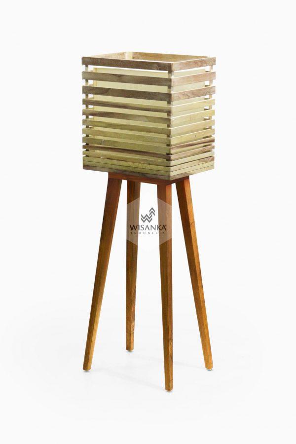 Radio Floor Lamp Off | Wooden Floor Lamp | Wooden Home Decor | High Floor Lamp
