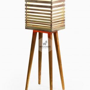 Radio Floor Lamp On | Wooden Floor Lamp | Wooden Home Decor | High Floor Lamp