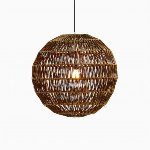 Banda Ball Wicker Hanging Lamp on