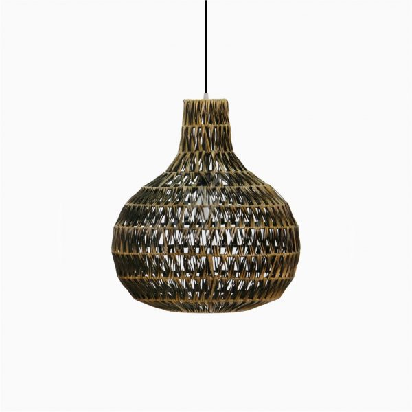 Banda Delta Hanging Rattan Art Lamp Off