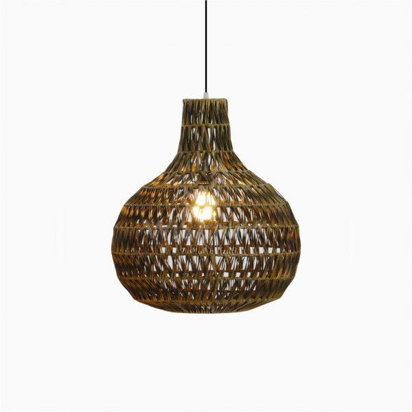 Banda Delta Hanging Rattan Art Lamp On