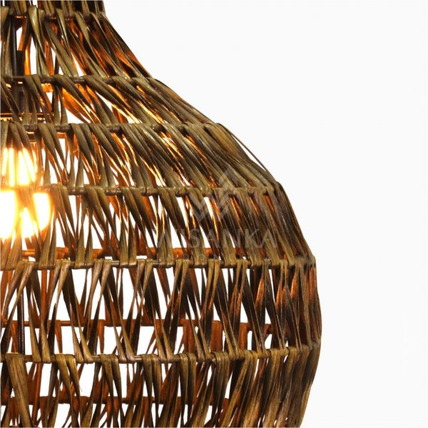 Banda Delta Hanging Rattan Art Lamp Detail