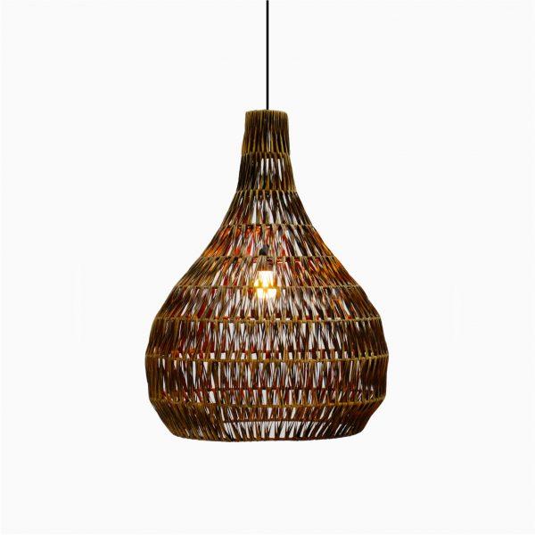 Banda Tria Wicker Rattan Hanging Lamp on
