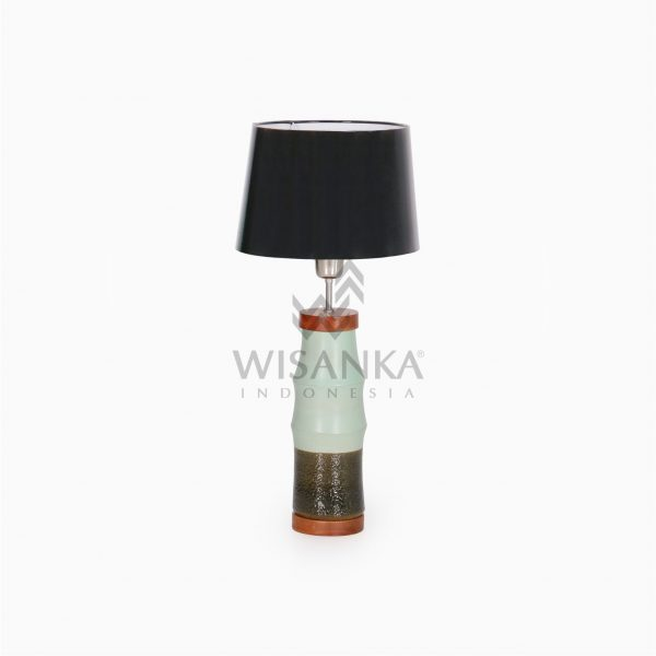 Cory Natural Wooden Resin Table Lamp Off