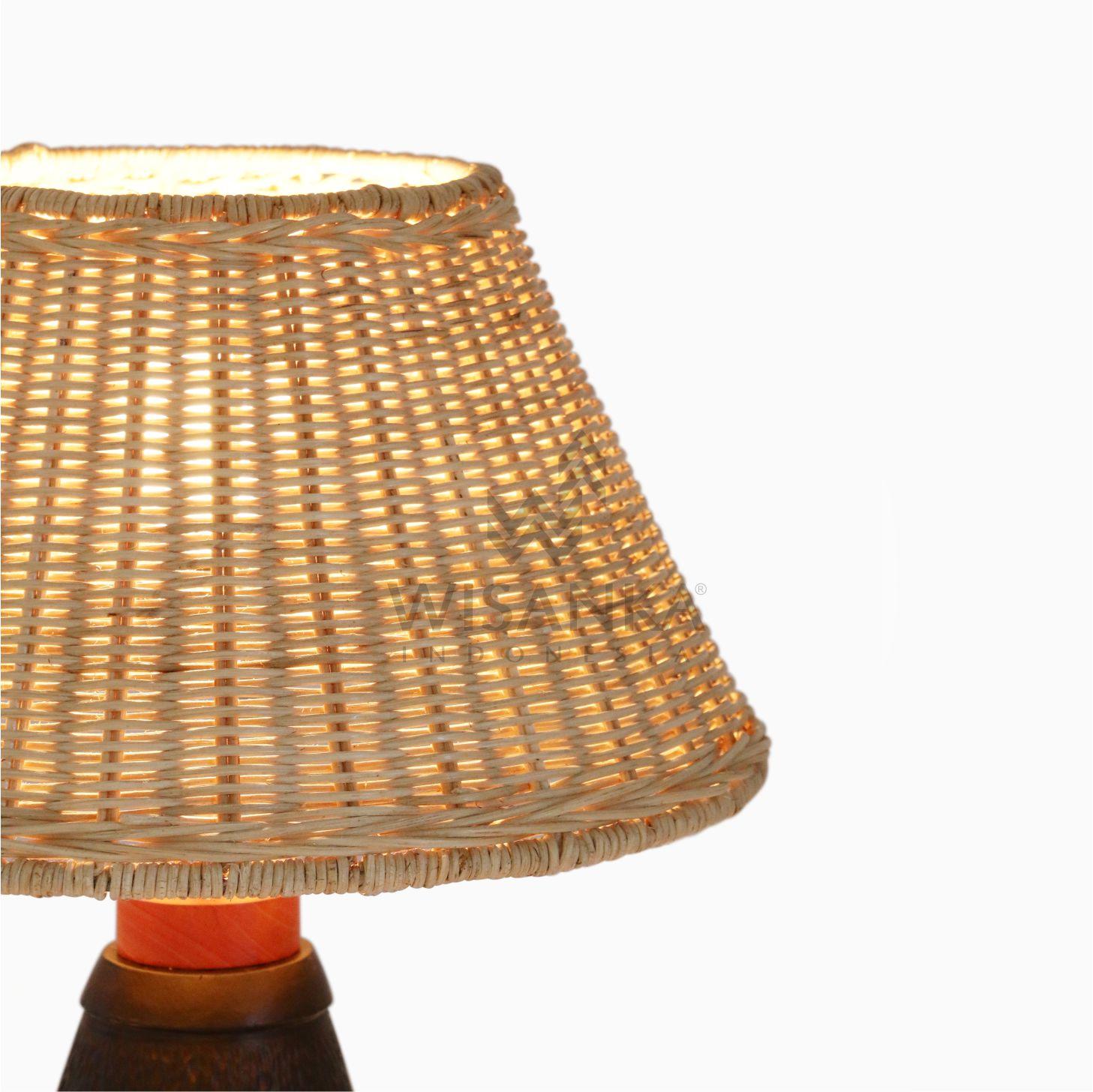 Pepa Natural Rattan Craft Table Lamp Lighting For Living