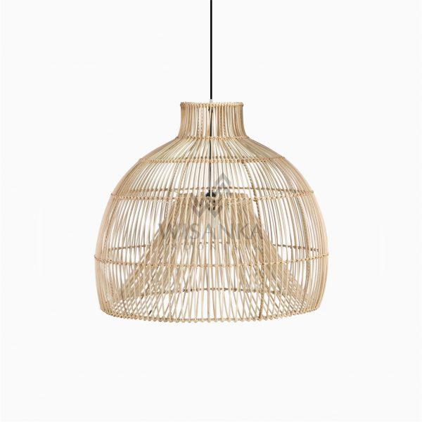 Bohemian Rattan Wicker Hanging Lamp Off