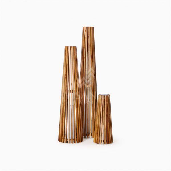 Costello Wooden Modern Floor Lamp Off