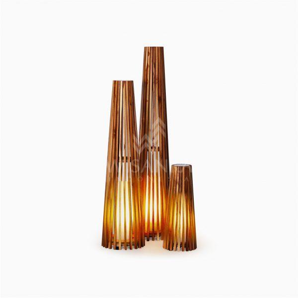 Costello Wooden Modern Floor Lamp On