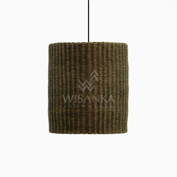 Daisy Rattan Wicker Hanging Lamp Off - Small