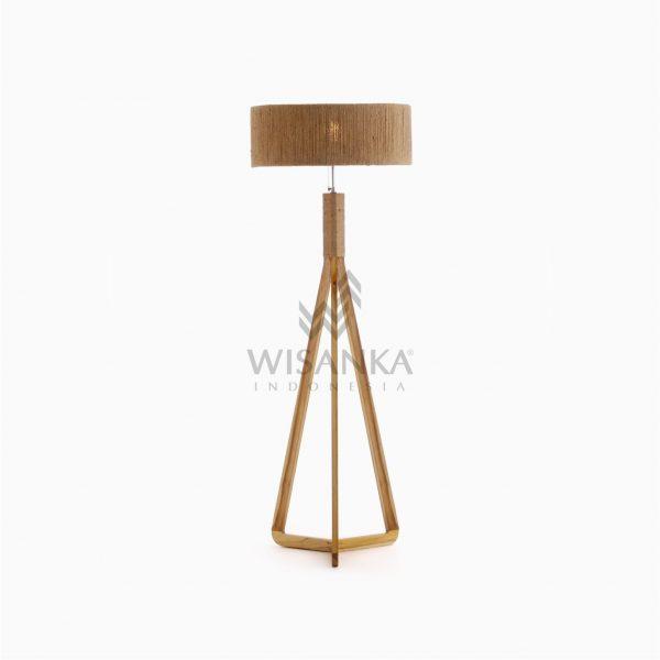 Dara Wooden Tripod Floor Lamp On