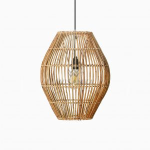 Elena Rattan Wicker Hanging Lamp Off