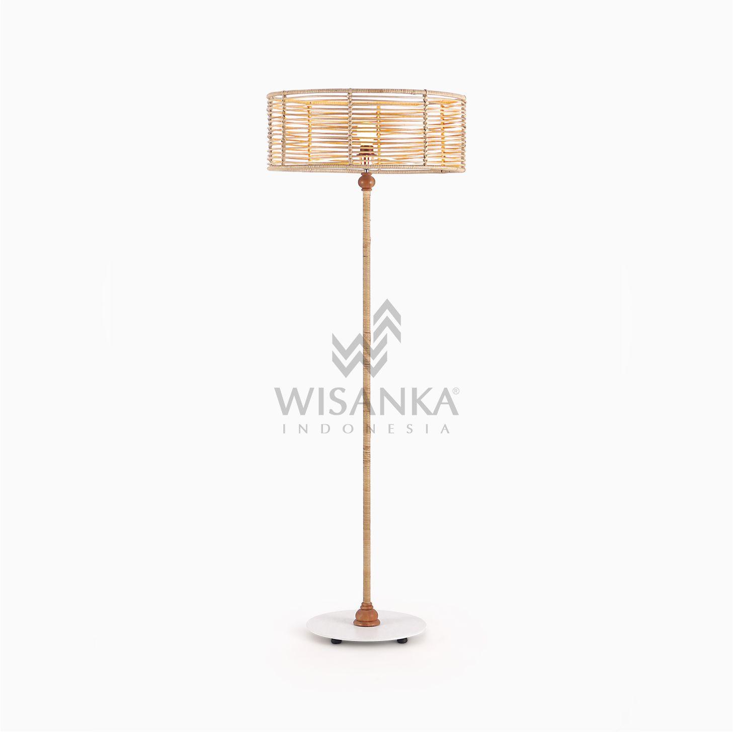 Kasya Rattan Wicker Floor Lamp Lighting For Living Home Decor
