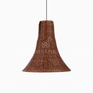 Laguna Rattan Wicker Hanging Lamp Off - Honey Brown Wash