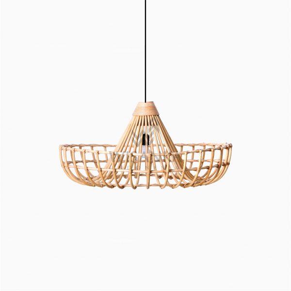Mosir Rattan Wicker Hanging Lamp Off - Small