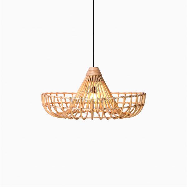 Mosir Rattan Wicker Hanging Lamp On - Small