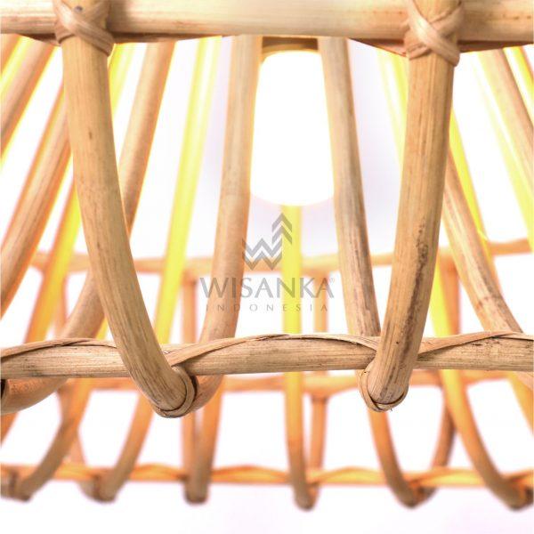 Mosir Rattan Wicker Hanging Lamp On - Small Detail