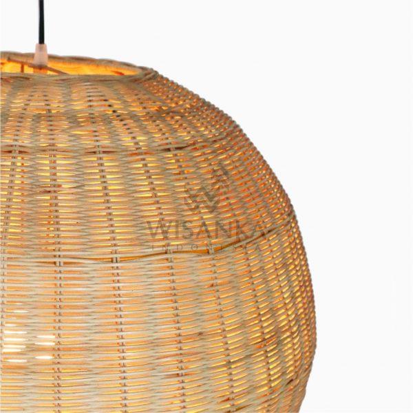 Taban Ball Wicker Rattan Hanging Lamp Detail