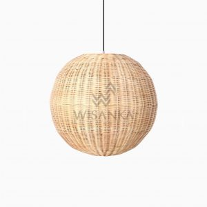 Taban Ball Wicker Rattan Hanging Lamp Off