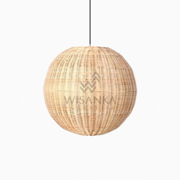 Taban Ball Wicker Rattan Hanging Lamp Off