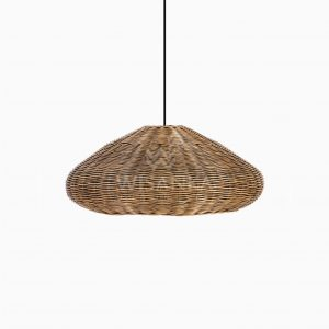 Taban Ufo Wicker Rattan Hanging Lamp Off