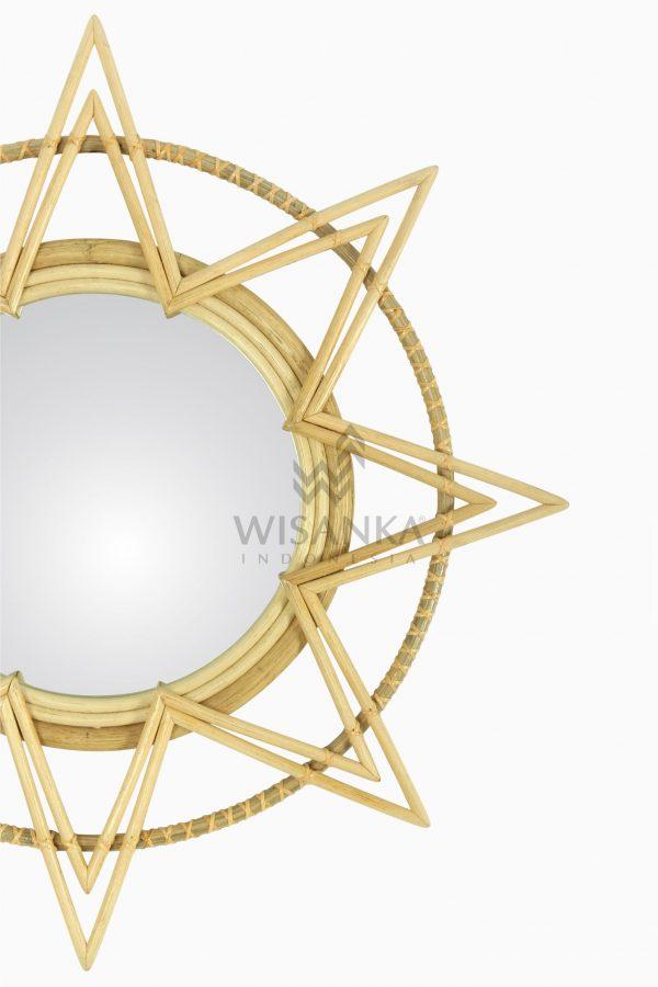 Asila Rattan Mirror - Natural Wicker Detail