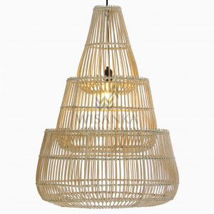 Karutup Rattan White Wash Hanging Lamp