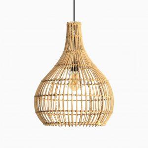 Sarmento Rattan Pendant Hanging Lamp Off