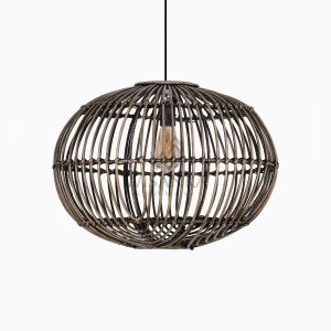 Somerset Rattan Pendant Hanging Lamp Off Large Black Wash