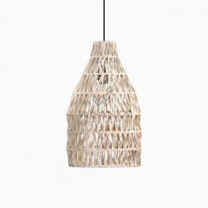 Banda Aru Hanging Lamp – Natural Rattan Chandeliers Lamp Off