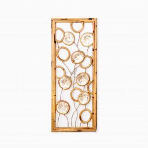 Belle Capiz Wall Decoration - Natural Rattan Home Decor