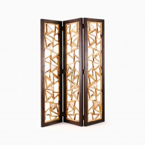 Triangle Divider Natural Rattan - Home Decoration